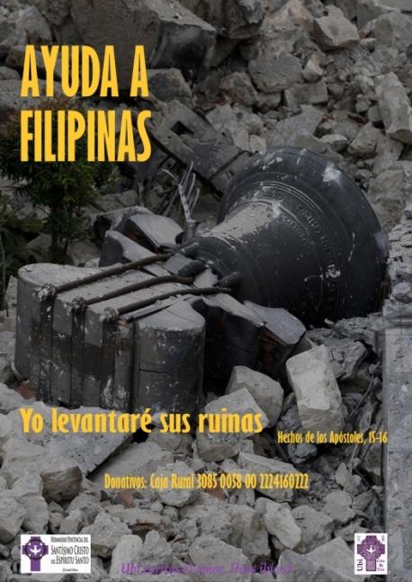 Ayuda a Filipinas Hdad. Espíritu Santo Zamora